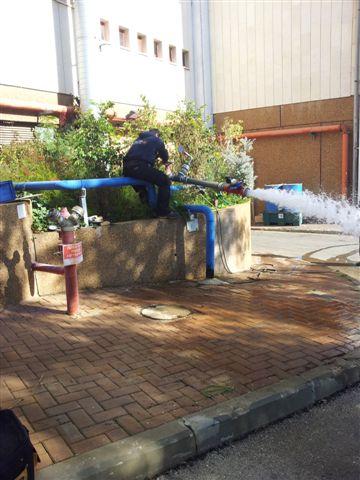טיפול באופיין רשת המים בוישיי כרמיאל