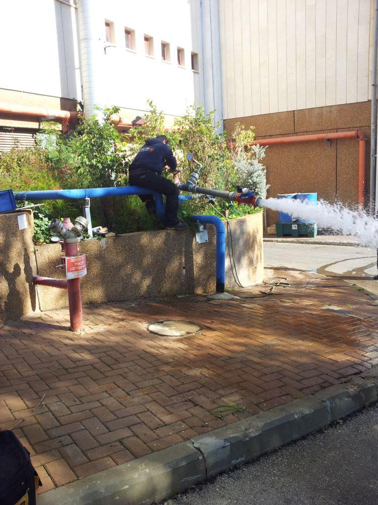 בדיקות אופיין רשת המים  שלב 1